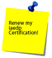 Renew iaedp Certification